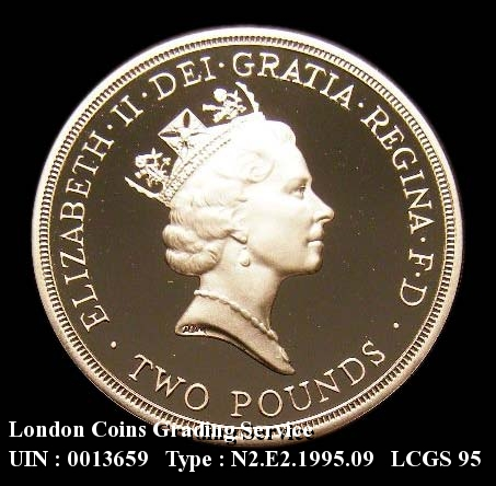 Decimal £2 1995 Elizabeth II. United Nations 50th Anniversary Silver Proof - Obverse