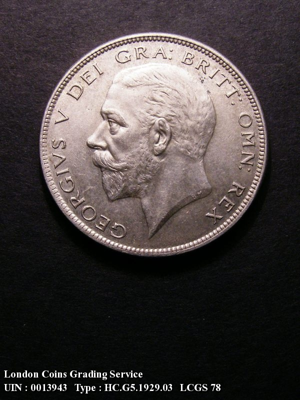 Halfcrown 1929 George V. D of FID to bead. E of DEF right of bead - Obverse