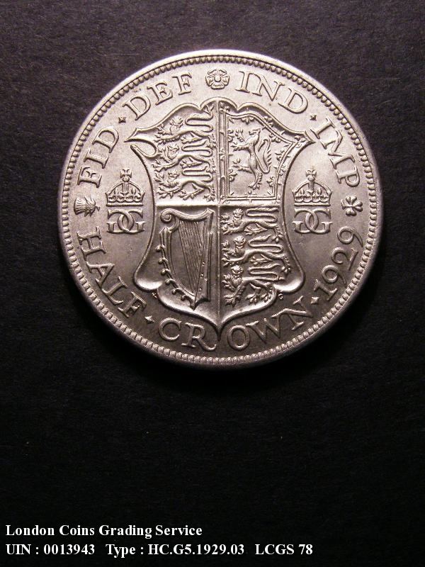 Halfcrown 1929 George V. D of FID to bead. E of DEF right of bead - Reverse