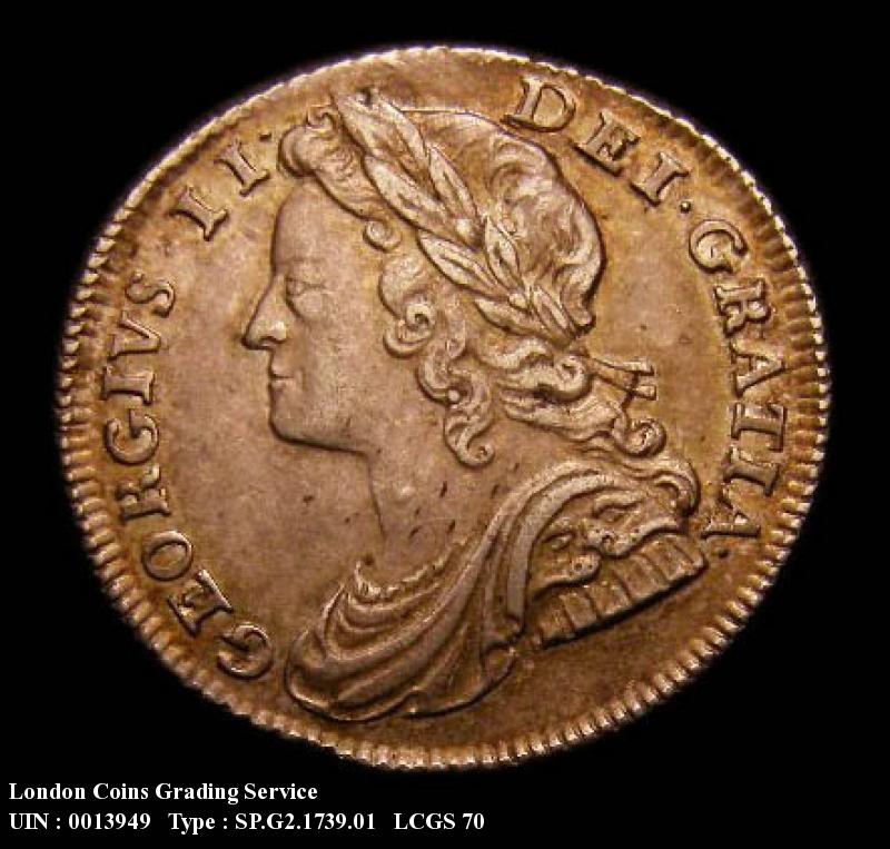 Sixpence 1739 George II. Roses in angles - Obverse