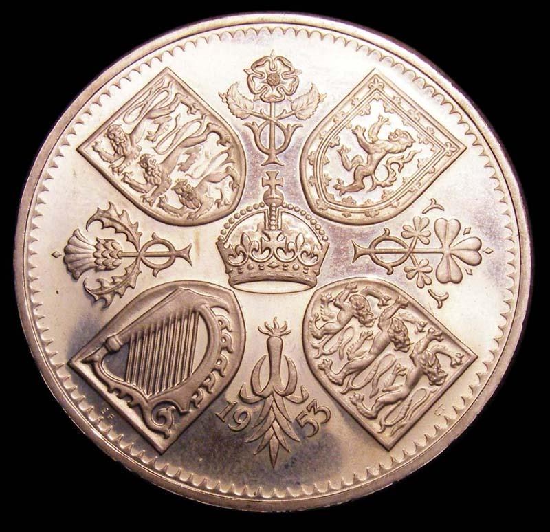 Crown 1953 Elizabeth II. Proof. Dies 1A - Reverse