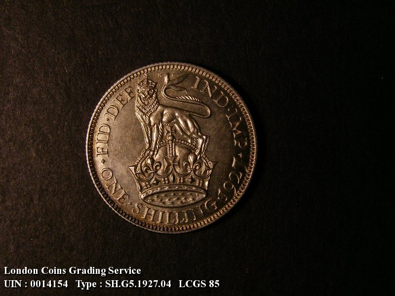 Shilling 1927 George V. Second Reverse Proof - Reverse