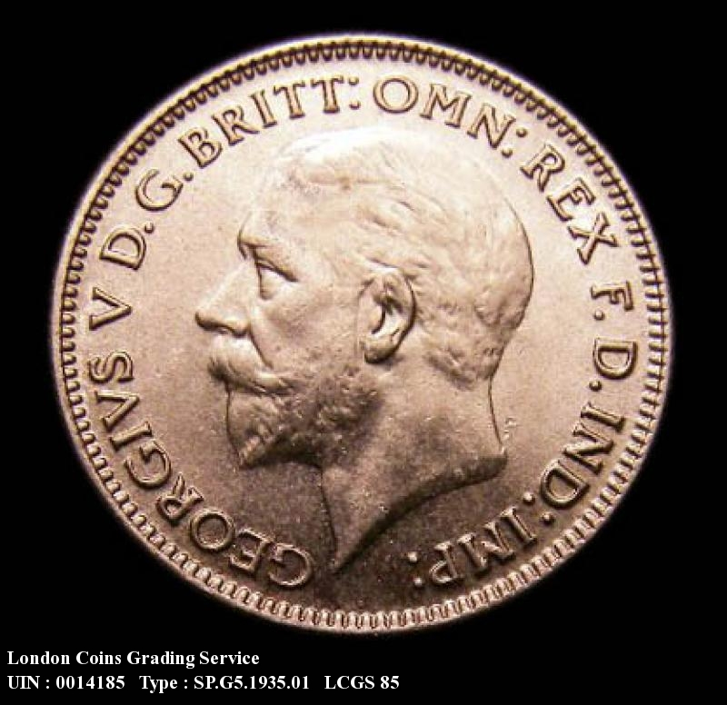 Sixpence 1935 George V. Standard type - Obverse