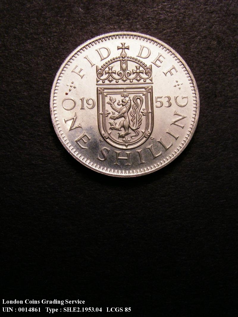 Shilling 1953 Elizabeth II. Scottish Proof - Reverse