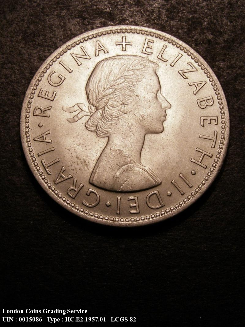 Halfcrown 1957 Elizabeth II. Standard type - Obverse