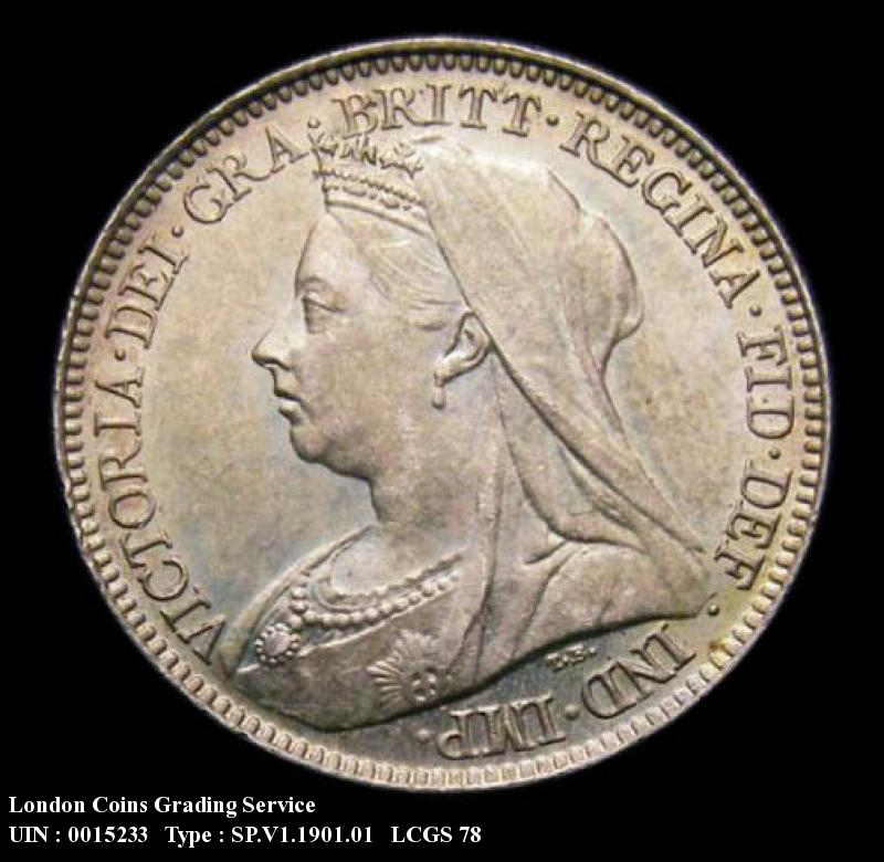Sixpence 1901 Victoria. Standard type - Obverse