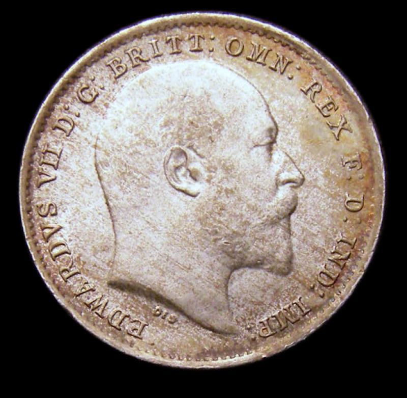 Silver 3d 1902 Edward VII. Standard type - Obverse