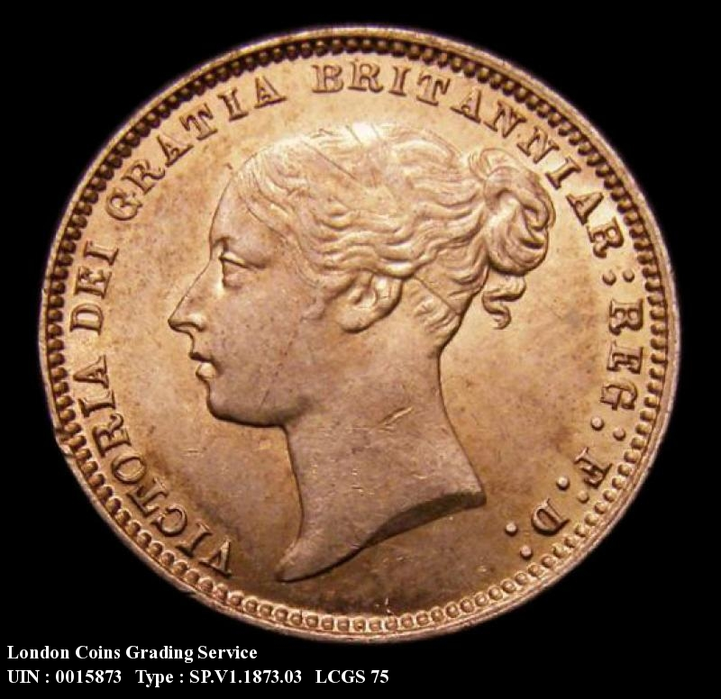 Sixpence 1873 Victoria. Dies 3A - Obverse