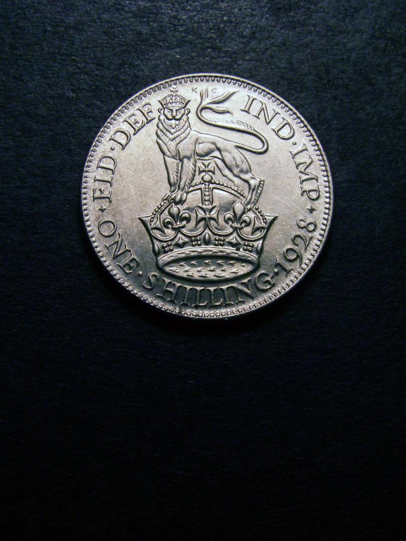 Shilling 1928 George V. Standard type - Reverse