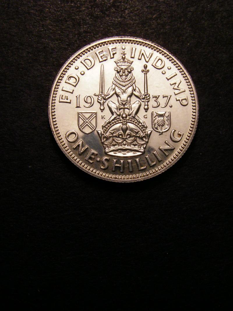 Shilling 1937 George VI. Scottish Proof - Reverse