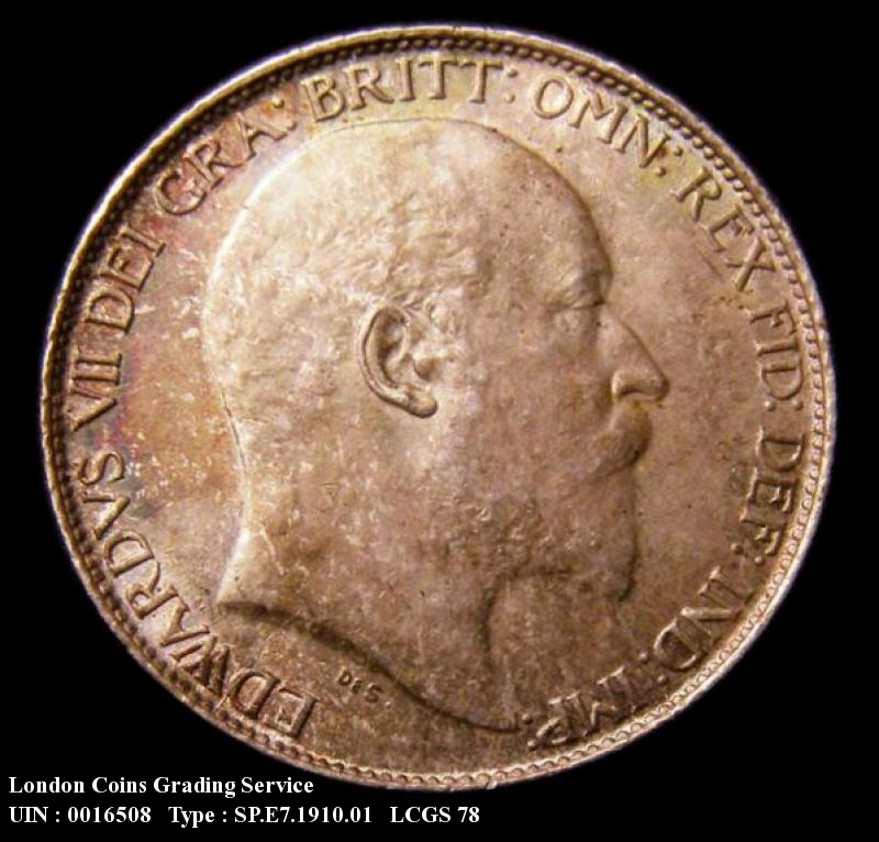Sixpence 1910 Edward VII. Standard type - Obverse