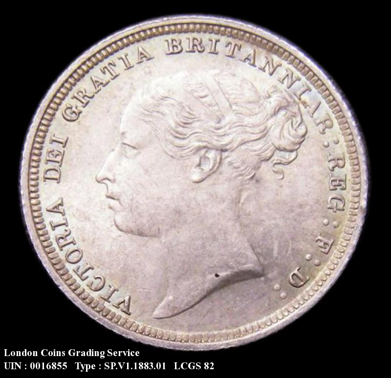 Sixpence 1883 Victoria. Standard type - Obverse