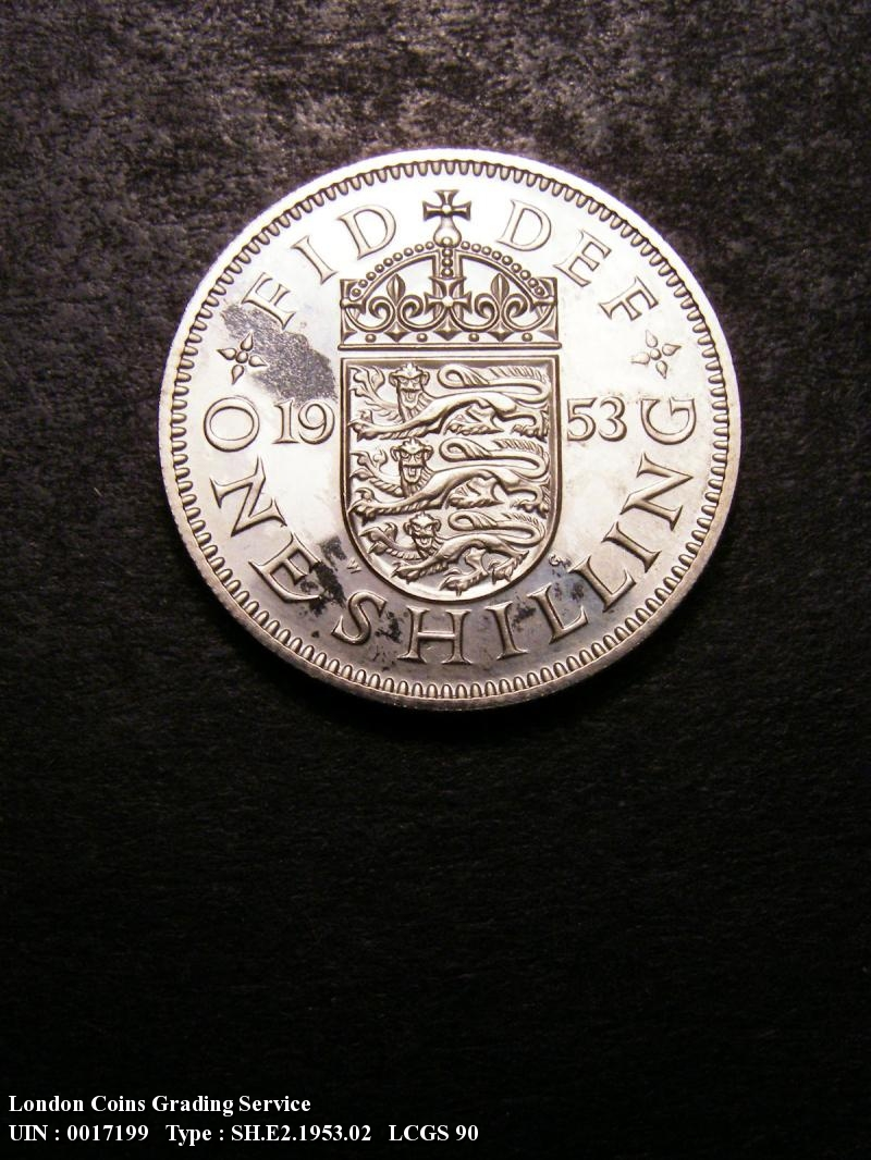 Shilling 1953 Elizabeth II. English Proof - Reverse