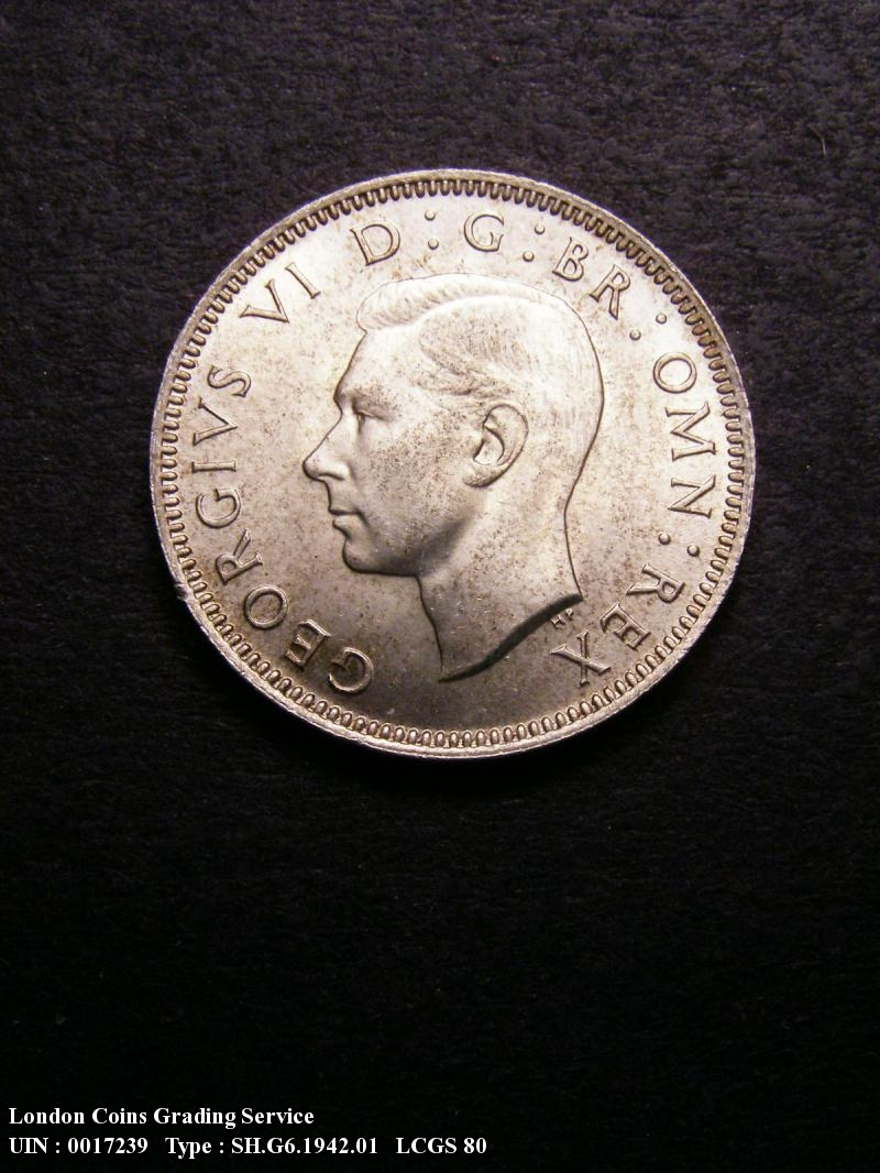 Shilling 1942 George VI. English - Obverse