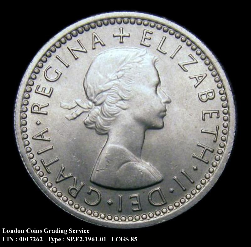Sixpence 1961 Elizabeth II. Standard type - Obverse