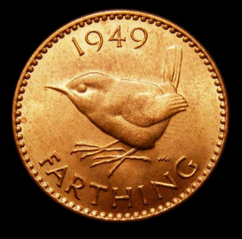 Farthing 1949 George VI. Dies 2+A - Reverse