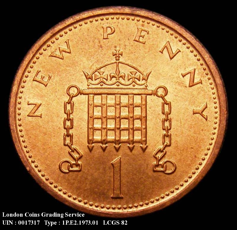 Decimal 1p 1973 Elizabeth II. Currency - Reverse