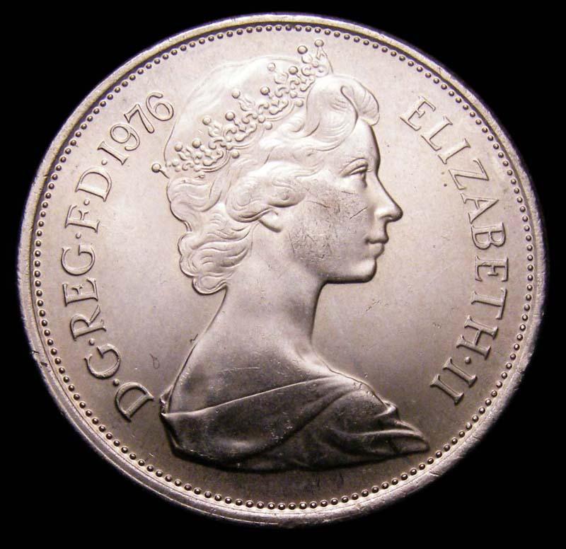 Decimal 10p 1976 Elizabeth II. Dies 7B - Obverse