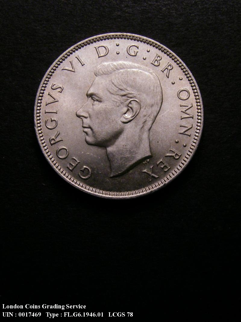 Florin 1946 George VI. Standard type - Obverse