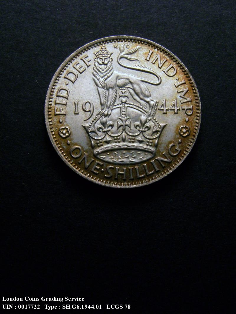 Shilling 1944 George VI. English - Reverse