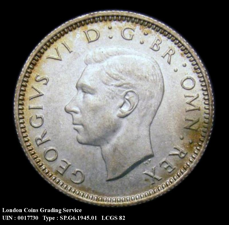 Sixpence 1945 George VI. Standard type - Obverse