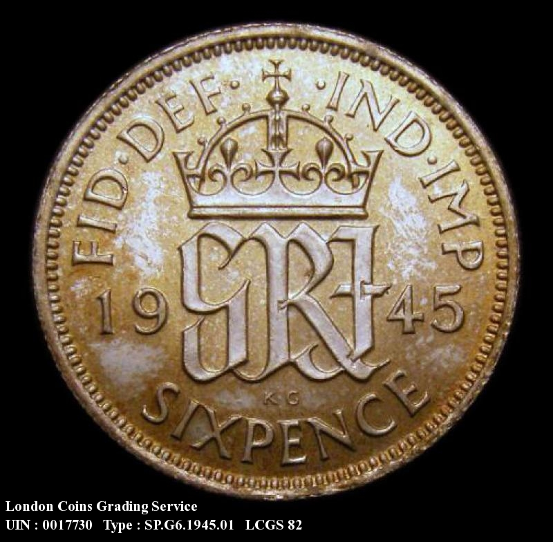 Sixpence 1945 George VI. Standard type - Reverse