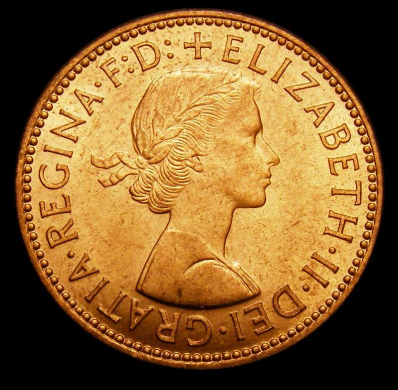 Halfpenny 1958 Elizabeth II. Dies 3+G - Obverse