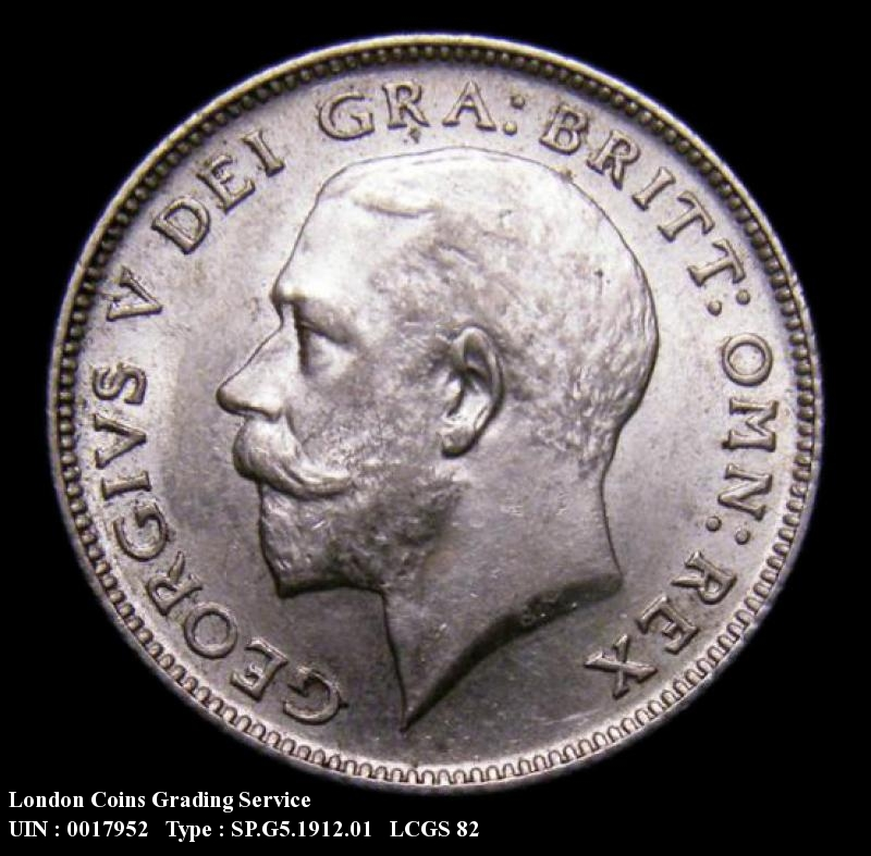 Sixpence 1912 George V. Standard type - Obverse