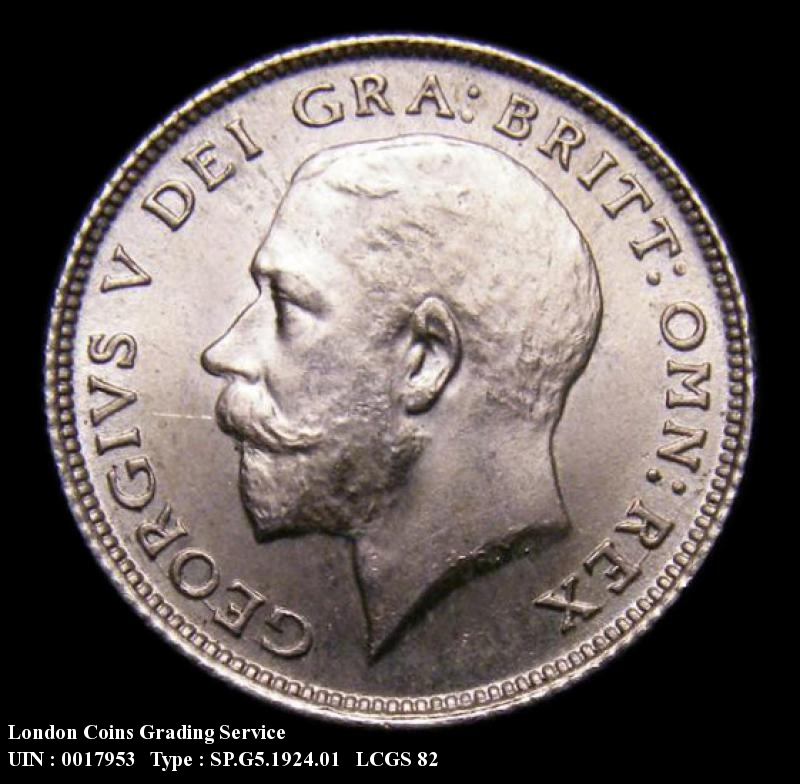 Sixpence 1924 George V. Standard type - Obverse