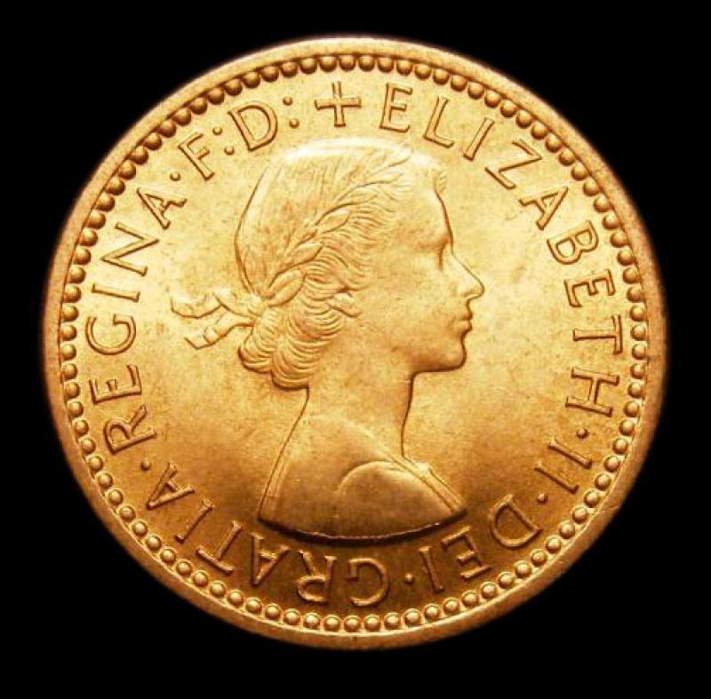 Farthing 1956 Elizabeth II. Dies 3+D - Obverse