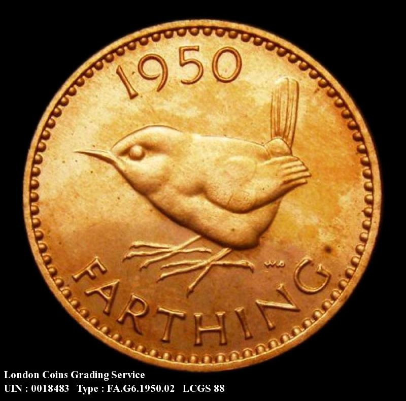 Farthing 1950 George VI. Dies 2+A  Proof - Reverse