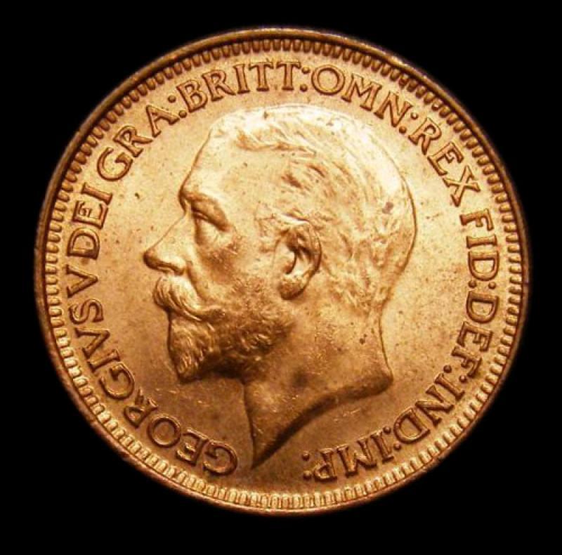Farthing 1930 George V. Dies 3+B - Obverse