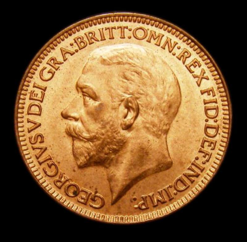 Farthing 1928 George V. Dies 3+B - Obverse