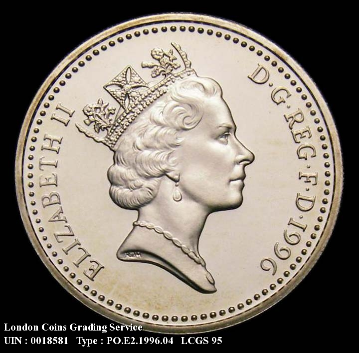 Decimal £1 1996 Elizabeth II. Silver Proof. (Note: Issued cased and as part of the 7-coin silver set) - Obverse