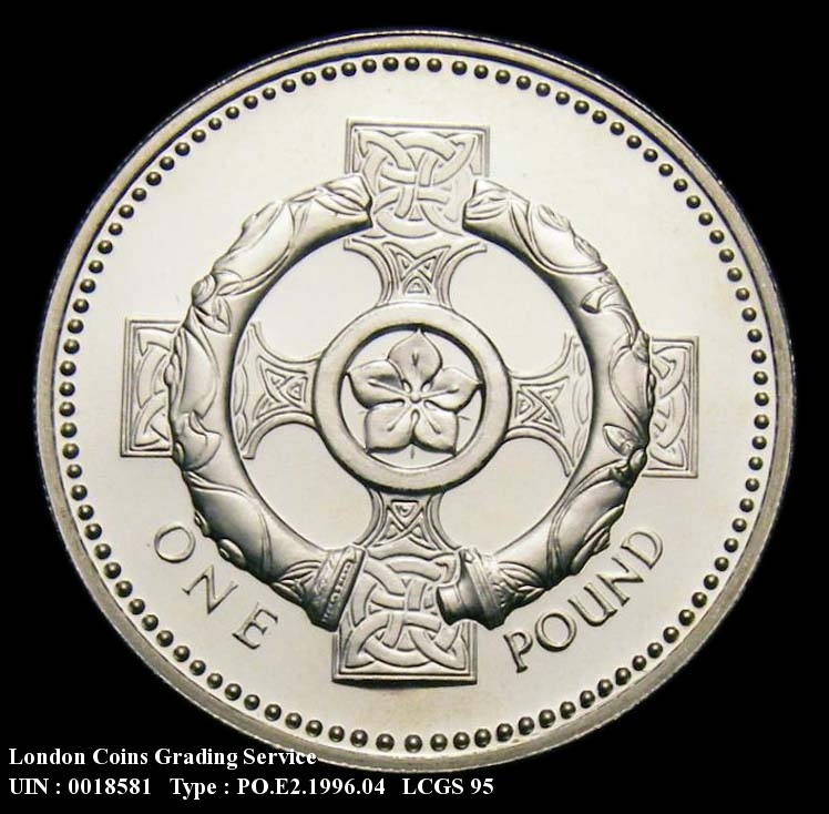 Decimal £1 1996 Elizabeth II. Silver Proof. (Note: Issued cased and as part of the 7-coin silver set) - Reverse