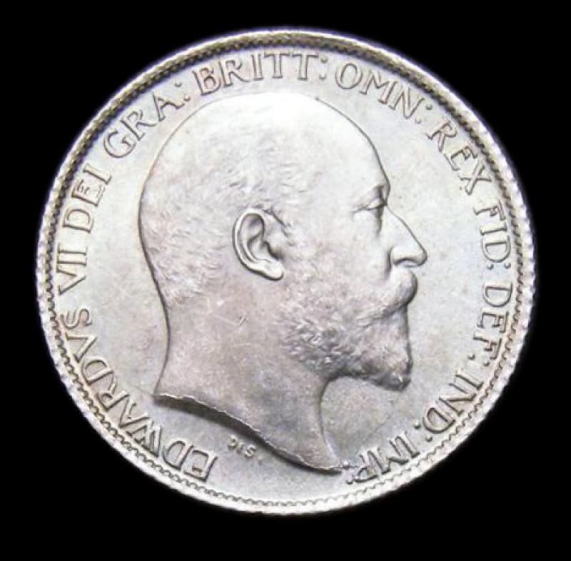 Sixpence 1906 Edward VII. Standard type - Obverse
