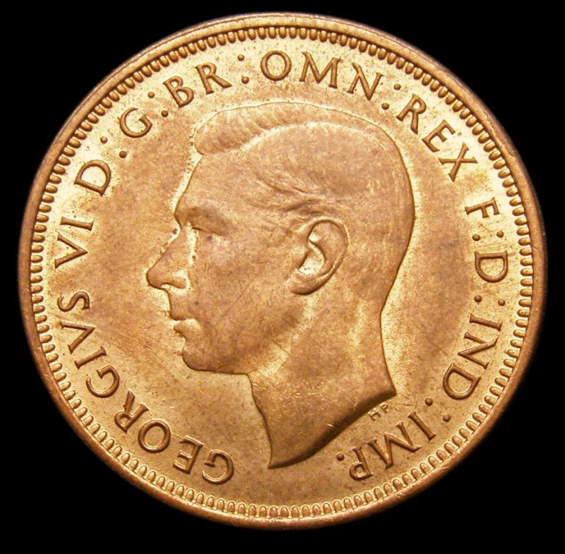Halfpenny 1942 George VI. dies 1+H - Obverse