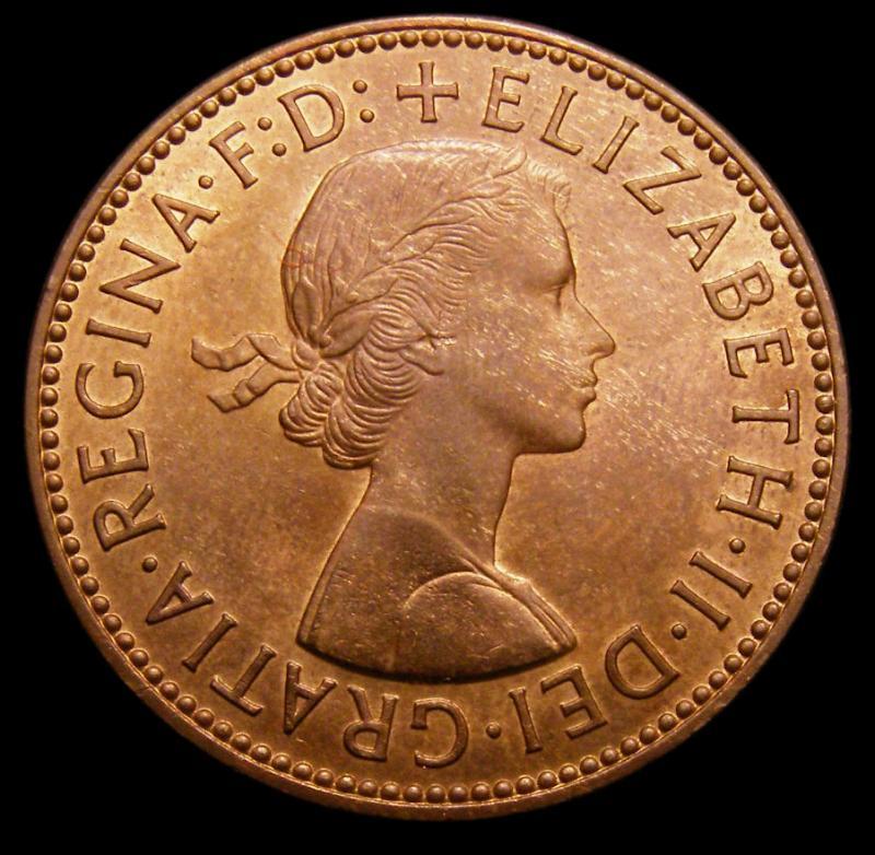 Halfpenny 1959 Elizabeth II. Dies 3+G - Obverse
