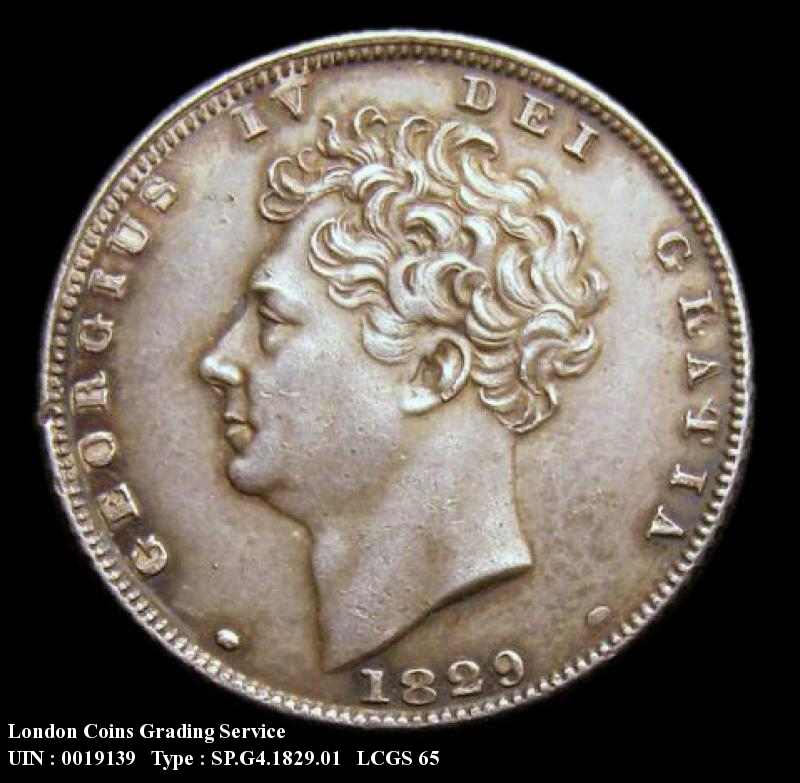 Sixpence 1829 George IV. Standard type - Obverse