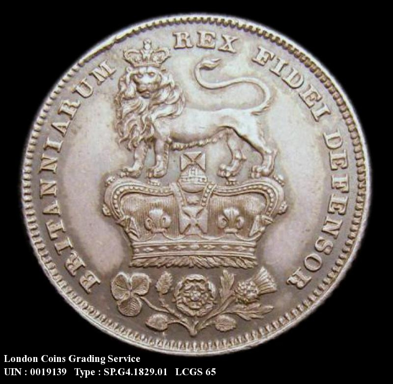 Sixpence 1829 George IV. Standard type - Reverse