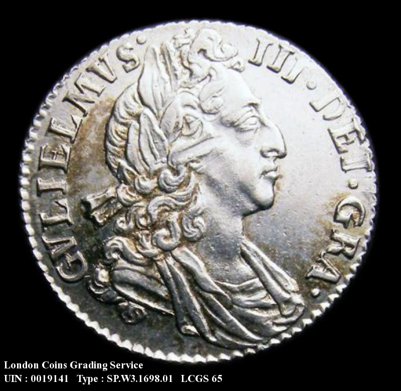 Sixpence 1698 William III. Plain in angles - Obverse