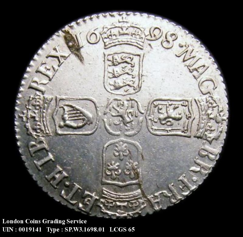 Sixpence 1698 William III. Plain in angles - Reverse