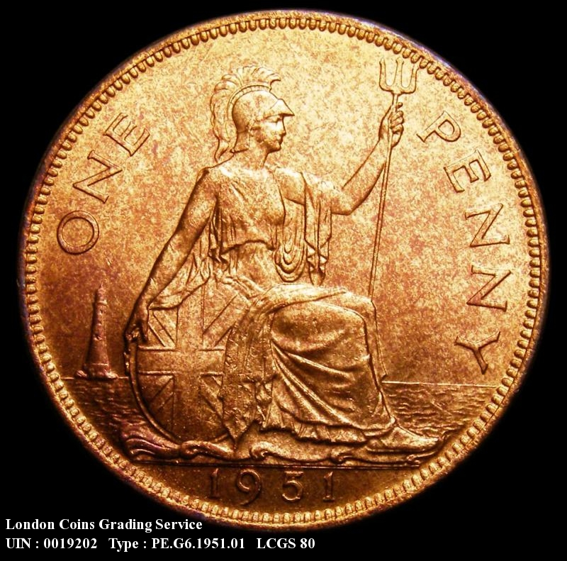 Penny 1951 George VI. dies 3+C - Reverse