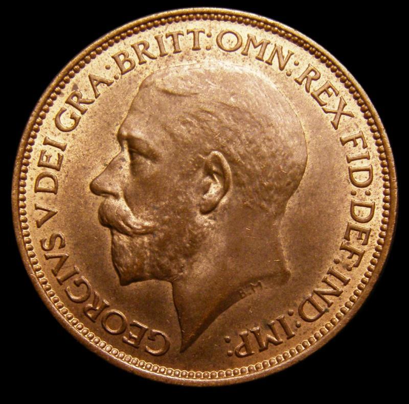 Halfpenny 1924 George V. Dies 1+A - Obverse