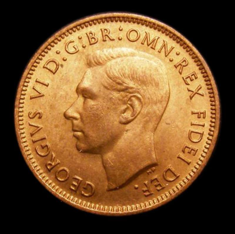 Farthing 1951 George VI. Dies 2+A - Obverse
