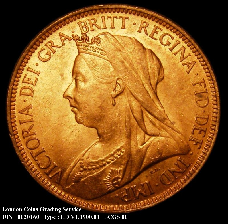 Halfpenny 1900 Victoria. Dies 1+B - Obverse