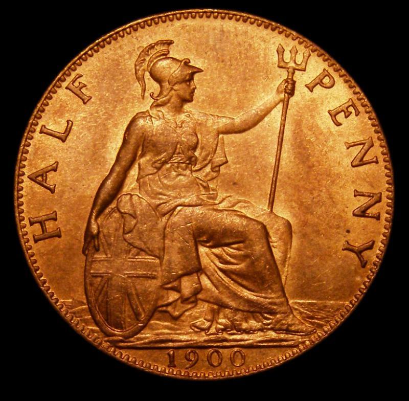 Halfpenny 1900 Victoria. Dies 1+B - Reverse