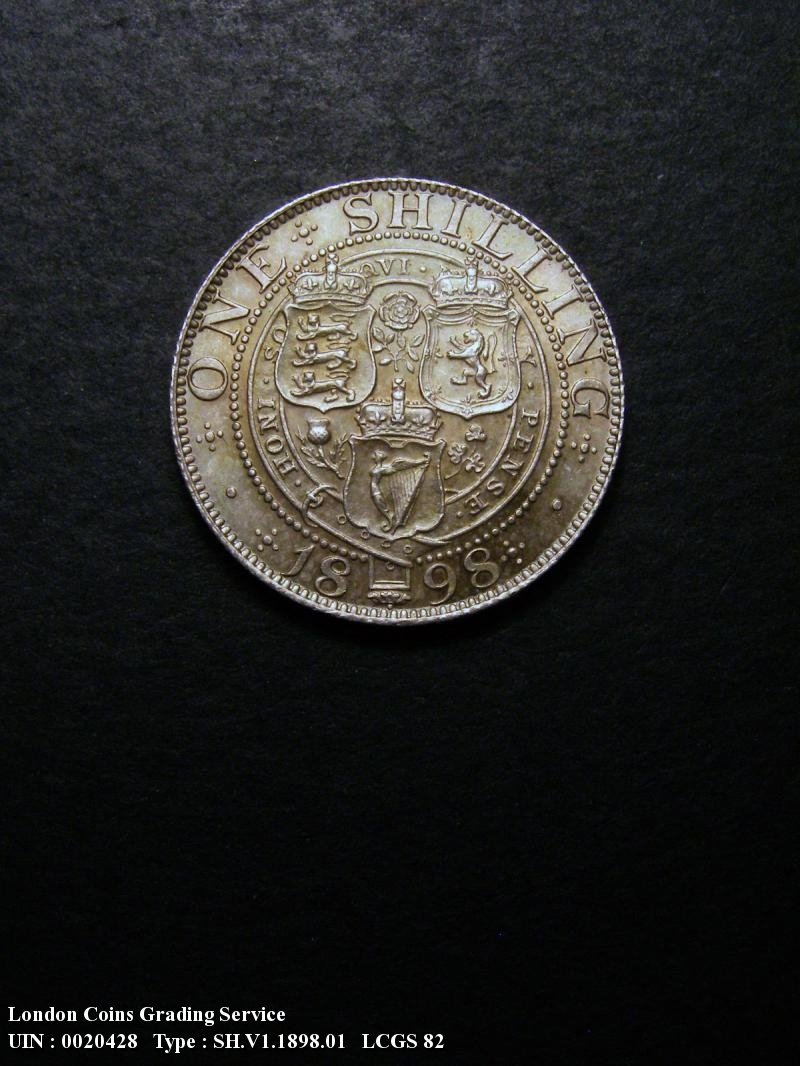 Shilling 1898 Victoria. Standard type - Reverse