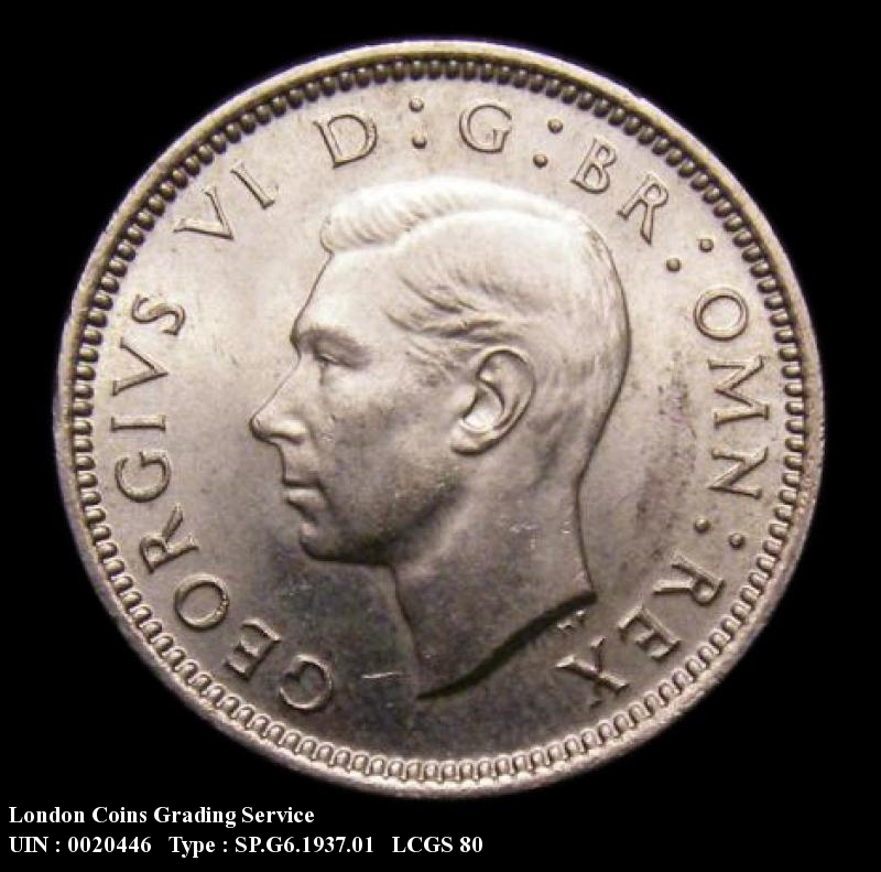Sixpence 1937 George VI. Standard type - Obverse