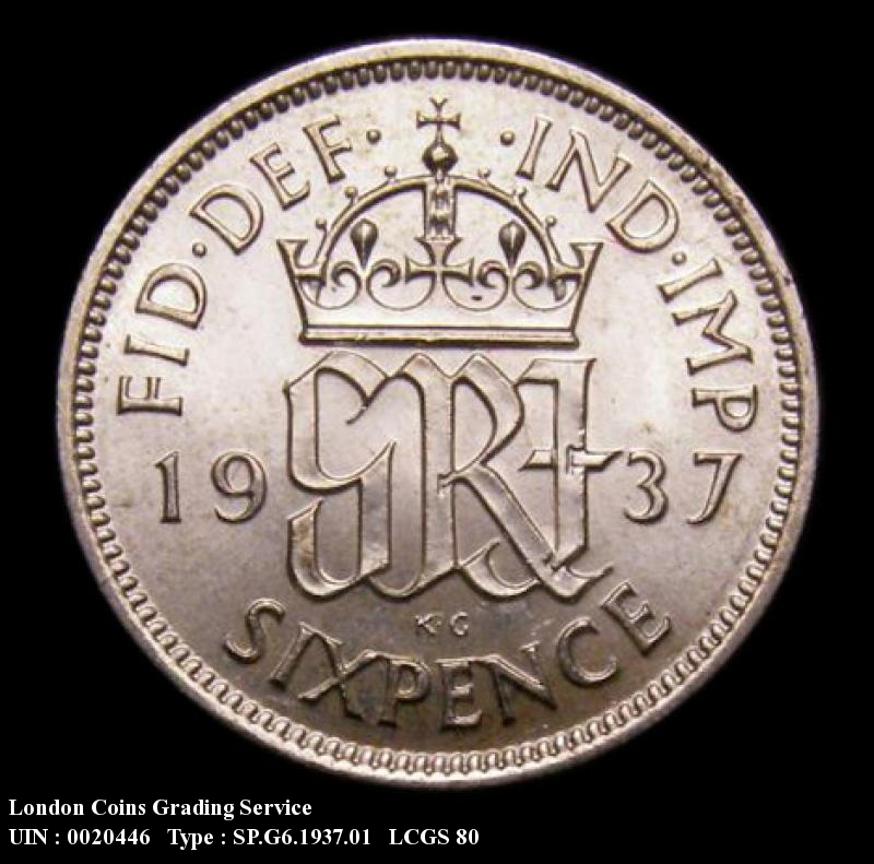 Sixpence 1937 George VI. Standard type - Reverse